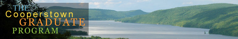 Otsego Lake and the surrounding hills